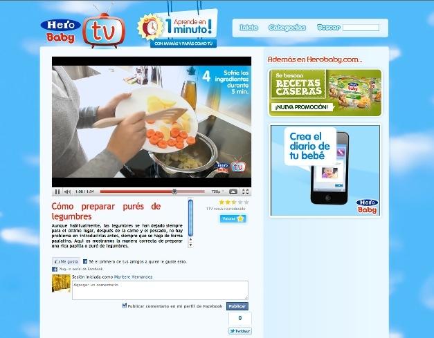 Hero Baby tv online para conocer la nutricion infantil