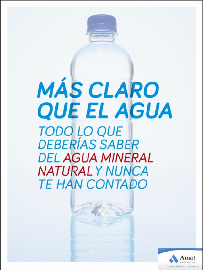 Mineralización del agua, libro «mas claro que el agua»
